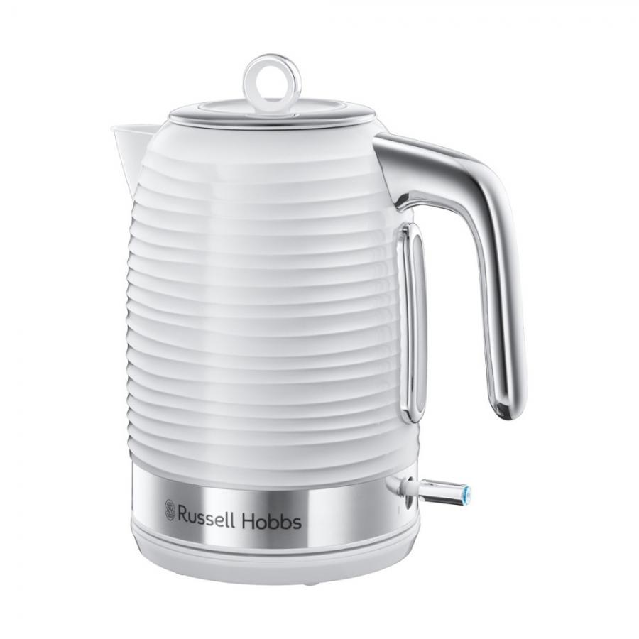 Електрическа кана за вода Russell Hobbs Inspire White 24360-70 в млечнобял цвят и изискан дизайн