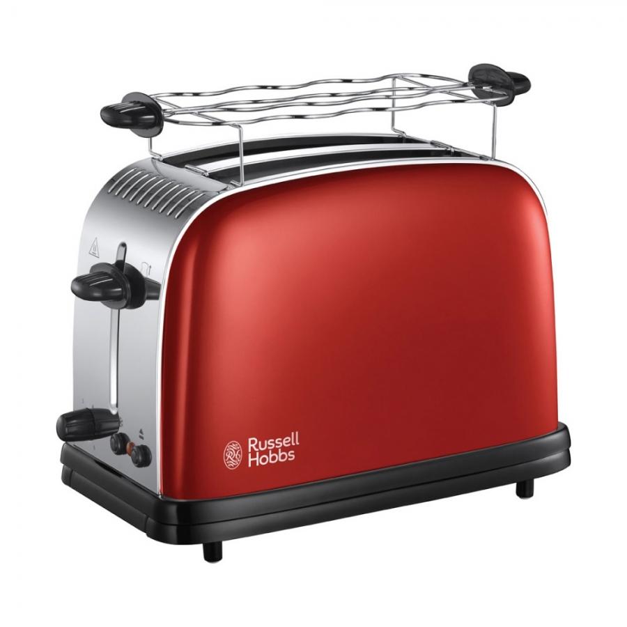 Тостер Russell Hobbs Colours+ 23330-56 в наситен, червен цвят